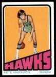1972 Topps #5  Pete Maravich   Front Thumbnail