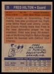 1972 Topps #23  Fred Hilton   Back Thumbnail
