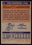1972 Topps #42  Bob Dandridge  Back Thumbnail