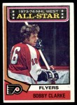 1974 Topps #135   -  Bobby Clarke All-Star Front Thumbnail