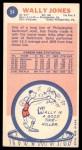 1969 Topps #54  Wally Jones  Back Thumbnail