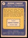 1969 Topps #89  Bernie Parent  Back Thumbnail