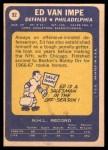 1969 Topps #92  Ed Van Impe  Back Thumbnail
