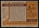 1973 Topps #169  Jacques Richard   Back Thumbnail