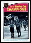 1976 Topps #264   Stanley Cup Champions Front Thumbnail