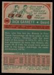 1973 Topps #77  Dick Garrett  Back Thumbnail