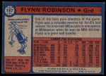 1974 Topps #197  Flynn Robinson  Back Thumbnail
