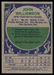 1975 Topps #251  John Williamson  Back Thumbnail