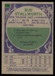 1975 Topps #108  Bud Stallworth  Back Thumbnail