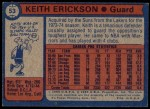1974 Topps #53  Keith Erickson  Back Thumbnail