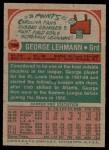 1973 Topps #194  George Lehmann  Back Thumbnail
