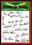 1974 Topps Red Checklist   Pirates Red Team Checklist Front Thumbnail