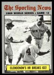 1970 Topps #306   -  Donn Clendenon 1969 World Series - Game #2 - Clendenon's HR Breaks Ice Front Thumbnail