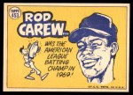 1970 Topps #453   -  Rod Carew All-Star Back Thumbnail