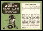 1970 Topps #101  Gary Veneruzzo  Back Thumbnail