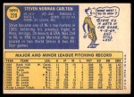 1970 Topps #220  Steve Carlton  Back Thumbnail