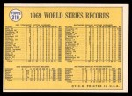 1970 Topps #310   1969 World Series - Mets Whoop it Up Back Thumbnail