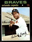 1971 Topps #605  Orlando Cepeda  Front Thumbnail