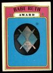 1972 Topps #626   Babe Ruth Award Front Thumbnail