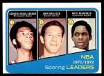 1972 Topps #171   -  John Havlicek / Nate Archibald / Kareem Abdul-Jabbar NBA Scoring Leaders Front Thumbnail