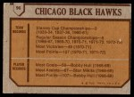 1973 Topps #96   Chicago Blackhawks Team Back Thumbnail