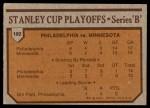 1973 Topps #192   Flyers 4 North Stars 2  Back Thumbnail