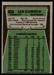 1975 Topps #120  Len Dawson  Back Thumbnail
