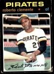 1971 Topps #630  Roberto Clemente  Front Thumbnail