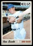 1970 Topps #670  Ron Santo  Front Thumbnail