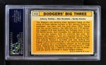 1963 Topps #412   -  Sandy Koufax / Don Drysdale / Johnny Podres Dodgers' Big 3 Back Thumbnail