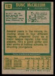 1971 Topps #132  Dunc McCallum  Back Thumbnail