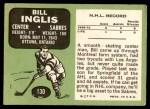 1970 Topps #130  Bill Inglis  Back Thumbnail
