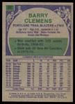 1975 Topps #22  Barry Clemens  Back Thumbnail