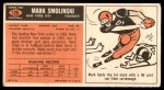 1965 Topps #126  Mark Smolinski  Back Thumbnail
