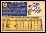 1970 Topps #449  Jim Palmer  Back Thumbnail
