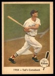 1959 Fleer #52   -  Ted Williams Comeback Front Thumbnail