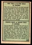 1971 O-Pee-Chee #250   -  Ed Giacomin 1st All-Star Team Back Thumbnail