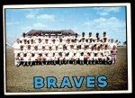 1967 Topps #477   Braves Team Front Thumbnail