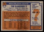 1976 Topps #431  Tom Blanchard  Back Thumbnail