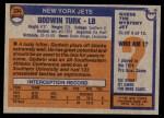 1976 Topps #334  Godwin Turk   Back Thumbnail