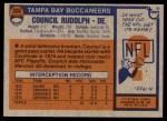 1976 Topps #338  Council Rudolph   Back Thumbnail