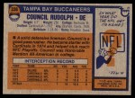 1976 Topps #338  Council Rudolph   Back Thumbnail