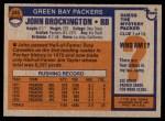1976 Topps #345  John Brockington  Back Thumbnail