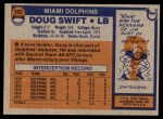 1976 Topps #352  Doug Swift  Back Thumbnail
