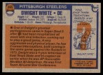 1976 Topps #365  Dwight White  Back Thumbnail