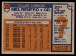 1976 Topps #368  Mel Renfro  Back Thumbnail