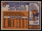 1976 Topps #369  Bruce Coslet   Back Thumbnail