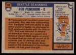 1976 Topps #408  Bob Penchion  Back Thumbnail