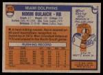 1976 Topps #413  Norm Bulaich  Back Thumbnail