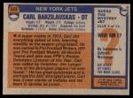 1976 Topps #423  Carl Barzilauskas   Back Thumbnail